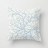 feet Throw Pillows featuring Cold Feet by rskinner1122