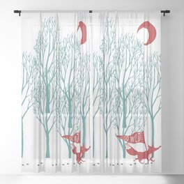 Go Wild! Sheer Curtain