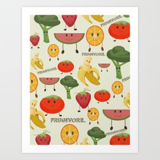 Fruity Collage Art Print
