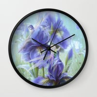 pixies Wall Clocks featuring Imagine by milyKnight
