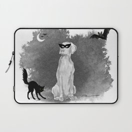 HOOOOOOWLOWEEN WEIMARANER Laptop Sleeve
