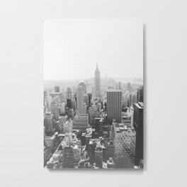 The Empire State Building (B&W) Metal Print