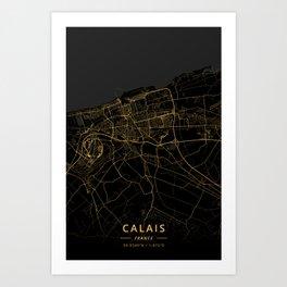 Calais, France - Gold Art Print