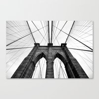 brooklyn bridge Canvas Prints featuring Brooklyn Bridge  by S|Tarah