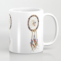 dreamcatcher Mugs featuring Dreamcatcher by Bruce Stanfield