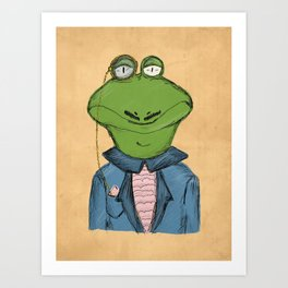 Sophisticated Frog Print Art Print