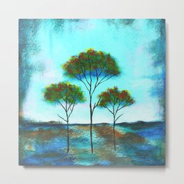 Blessings, Skinny Trees Art Metal Print