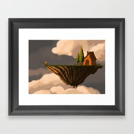 Fishing in the Clouds Framed Art Print
