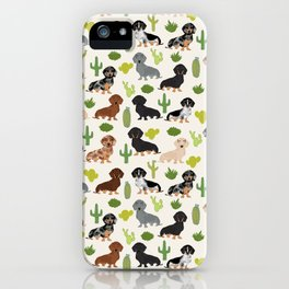 Dachshund cactus southwest dog breed gifts must have doxie dachsies iPhone Case