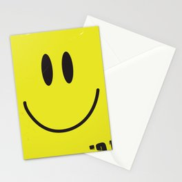 Acid house '91 vintage smiley face Stationery Cards