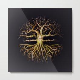 Eldritch Tree Black Metal Print
