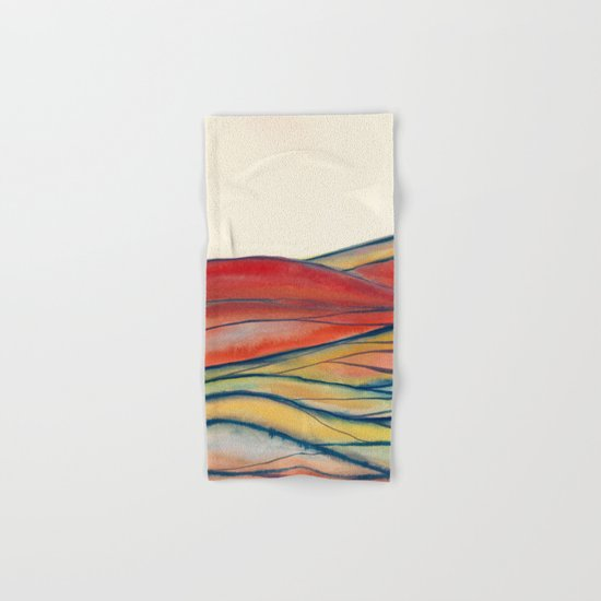 Watercolor abstract landscape 28 Hand & Bath Towel