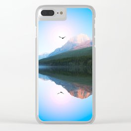 Water Mountain Clear iPhone Case