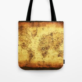 Arty Vintage Old World Map Tote Bag
