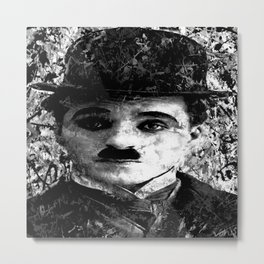 CHARLIE CHAPLIN (BLACK & WHITE VERSION) Metal Print