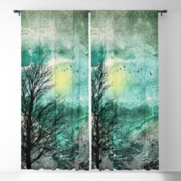 TREES under MAGIC SKY I Blackout Curtain