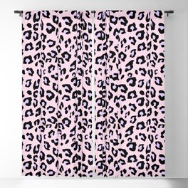Leopard Print - Lavender Blush Blackout Curtain