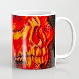 Airbrush Devil Skull Coffee Mug