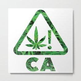 CA Cannabis Metal Print