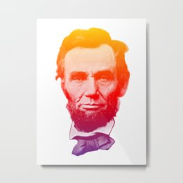 Big psychedelic Abe - Abraham Lincoln Metal Print