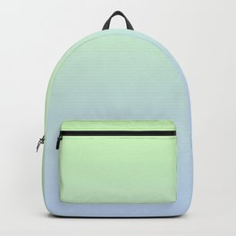Delicate shades of blue and green. Gradient.  Ombre. Backpack