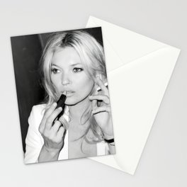 Smoking Kate Moss - Home Décor, Vintage poster, Fashion, Model, Print, Stationery Cards