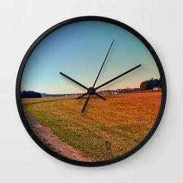 Hiking through beautiful scenery | landscape photography Wall Clock