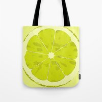 lime Tote Bags featuring Lime by Avigur