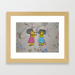 Patty and Selma - The Simpsons  Framed Art Print