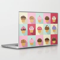 cupcakes Laptop & iPad Skins featuring Cupcakes by Rosa Puchalt