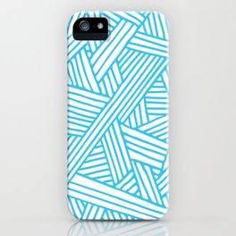 Abstract Teal & white Lines and Triangles Pattern - Mix and Match with Simplicity of Life iPhone Case