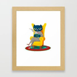 Welcome. Meow. Framed Art Print