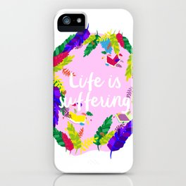 Romantic pessimism iPhone Case