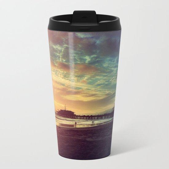 Santa Monica Sunset Metal Travel Mug