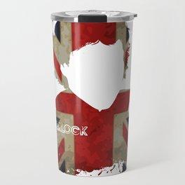 Sherlockian Union Jack Travel Mug