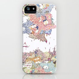 Abstract colour drawing floral iPhone Case