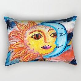 Sun and Moon United Rectangular Pillow
