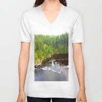 minnesota V-neck T-shirts featuring Minnesota Daybreak by JayKay