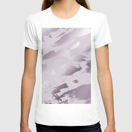 Blush lavender purple abstract glitter brushstrokes T-shirt