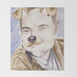 Mark Sheppard, watercolor painting Throw Blanket