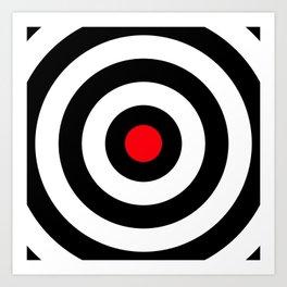 Target (Point Shooting) Art Print