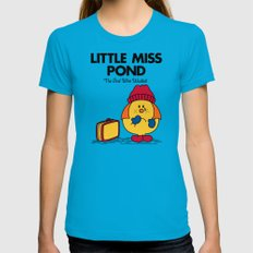Little Miss Pond Womens Fitted Tee Teal MEDIUM
