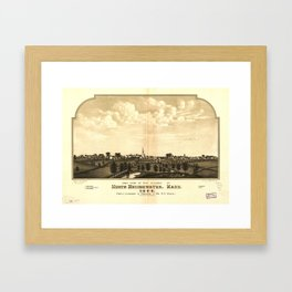 East View of North Bridgewater (Brockton), Massachusetts (1844) Framed Art Print