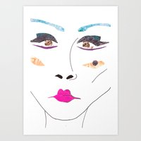 make-up Art Print
