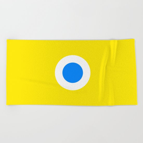 This is the Point, Yellow Pop Art Beach Towel