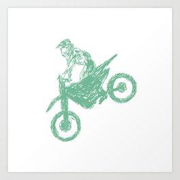 Dirt bike Motocross Art Print