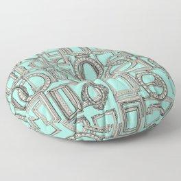 picture frames aplenty bone mint Floor Pillow