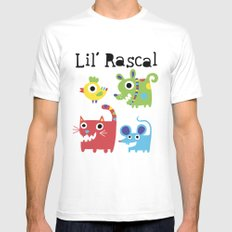 Lil' Rascal - Critters MEDIUM White Mens Fitted Tee