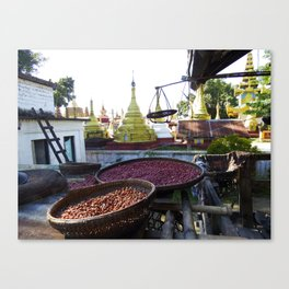 View from the Nunnery, Myanmar Canvas Print