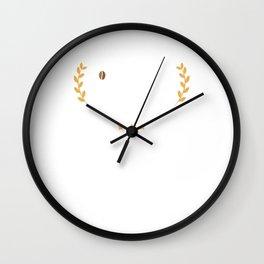 Certified Coffee Lover Caffeine Addict Wall Clock